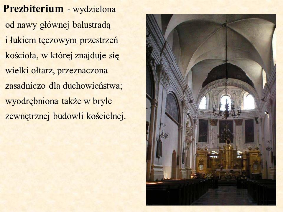 Prezbiterium - wydzielona