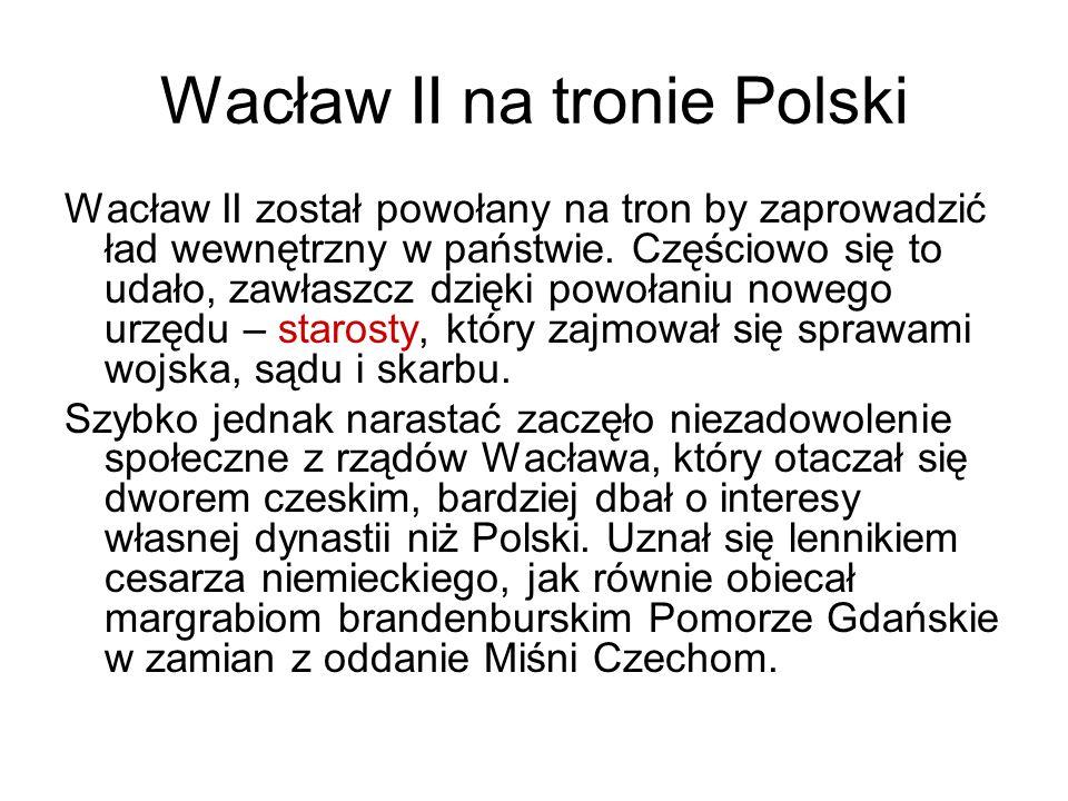 Wacław II na tronie Polski