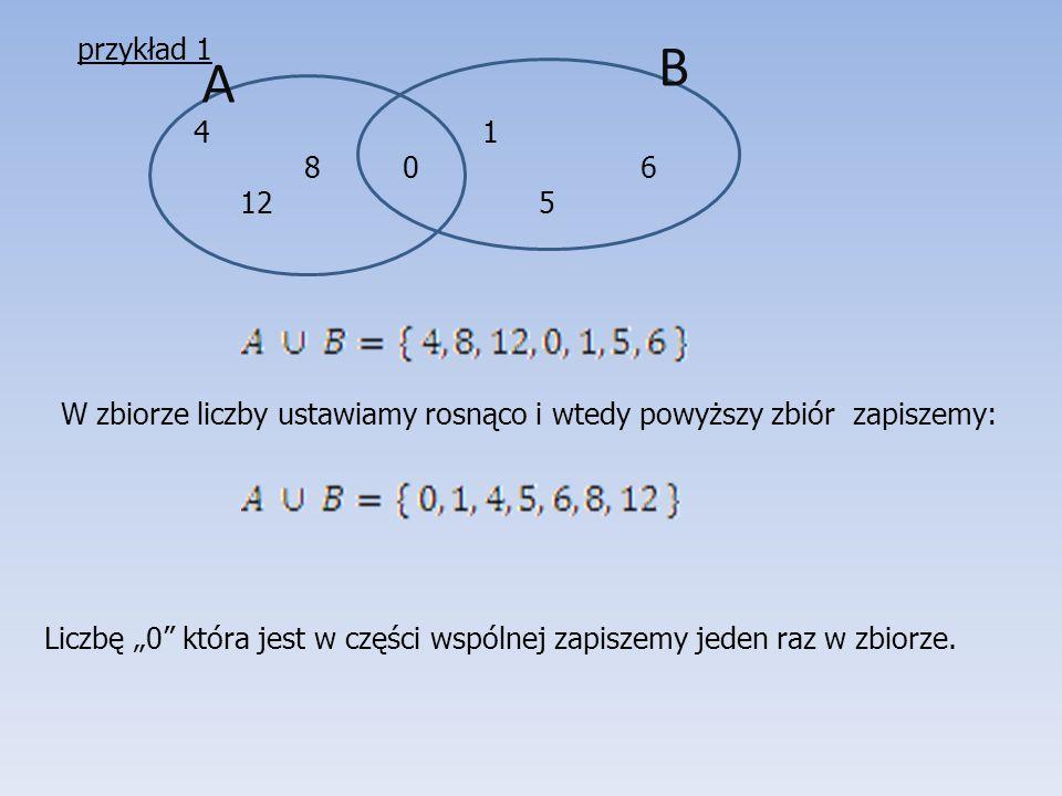 przykład 1 B. A. 1. 8 0 6. 12 5.