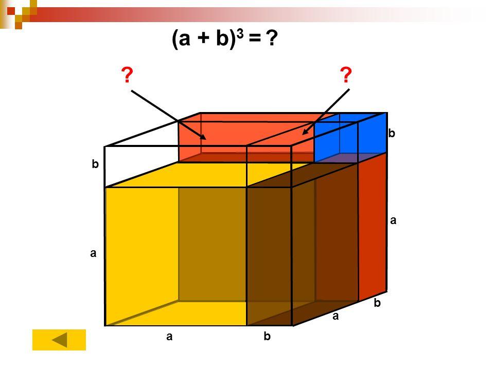 (a + b)3 = a b
