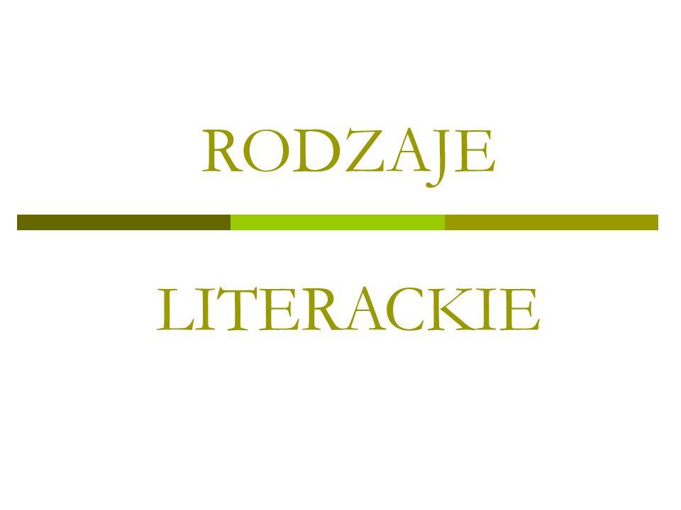 RODZAJE LITERACKIE
