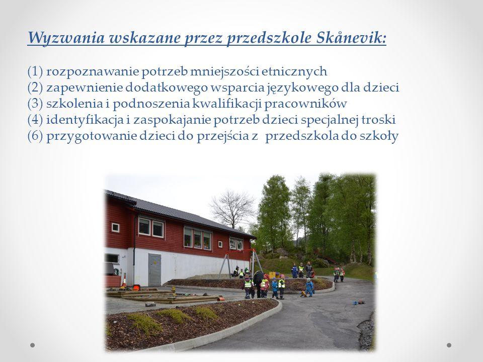 Wyzwania wskazane przez przedszkole Skånevik: