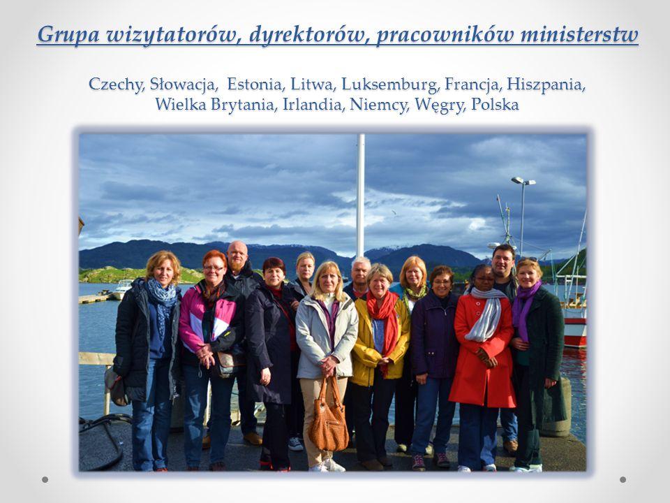 Grupa wizytatorów, dyrektorów, pracowników ministerstw Czechy, Słowacja, Estonia, Litwa, Luksemburg, Francja, Hiszpania, Wielka Brytania, Irlandia, Niemcy, Węgry, Polska