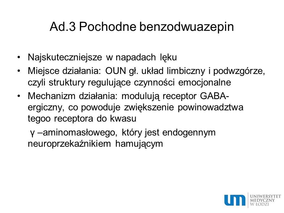 Ad.3 Pochodne benzodwuazepin
