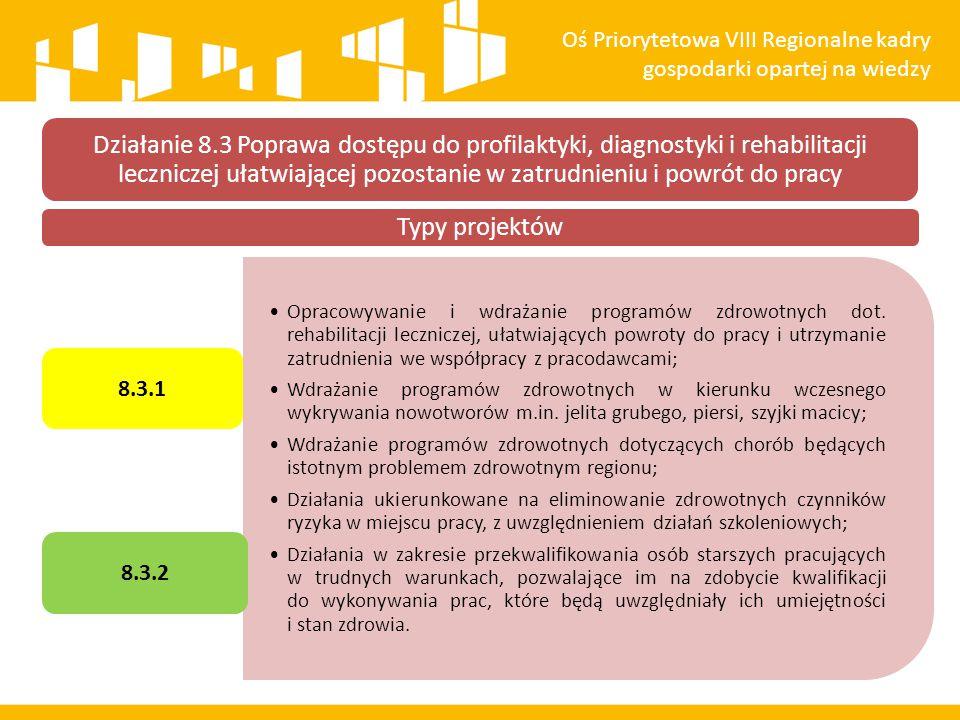 Oś Priorytetowa VIII Regionalne kadry gospodarki opartej na wiedzy