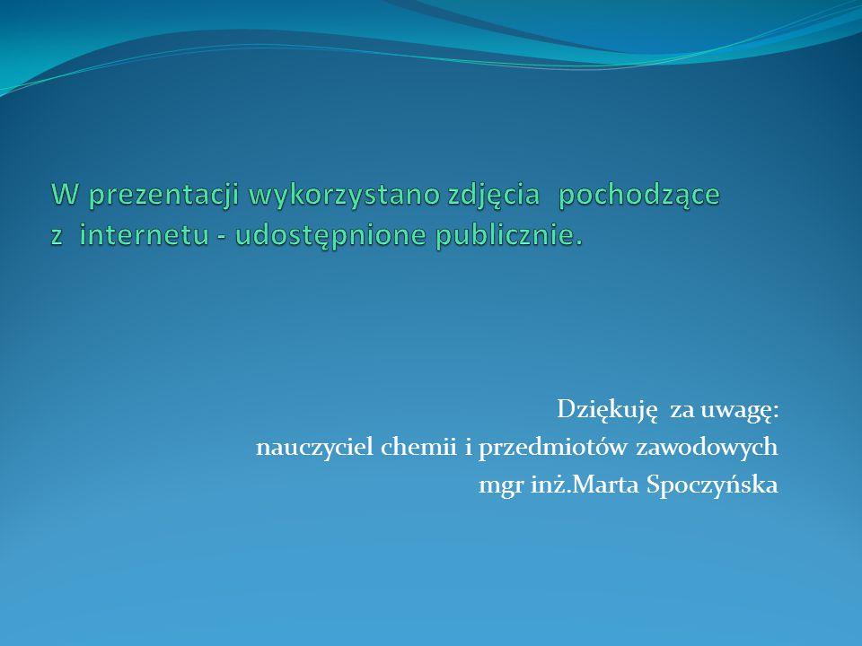 W prezentacji wykorzystano zdjęcia pochodzące z internetu - udostępnione publicznie.