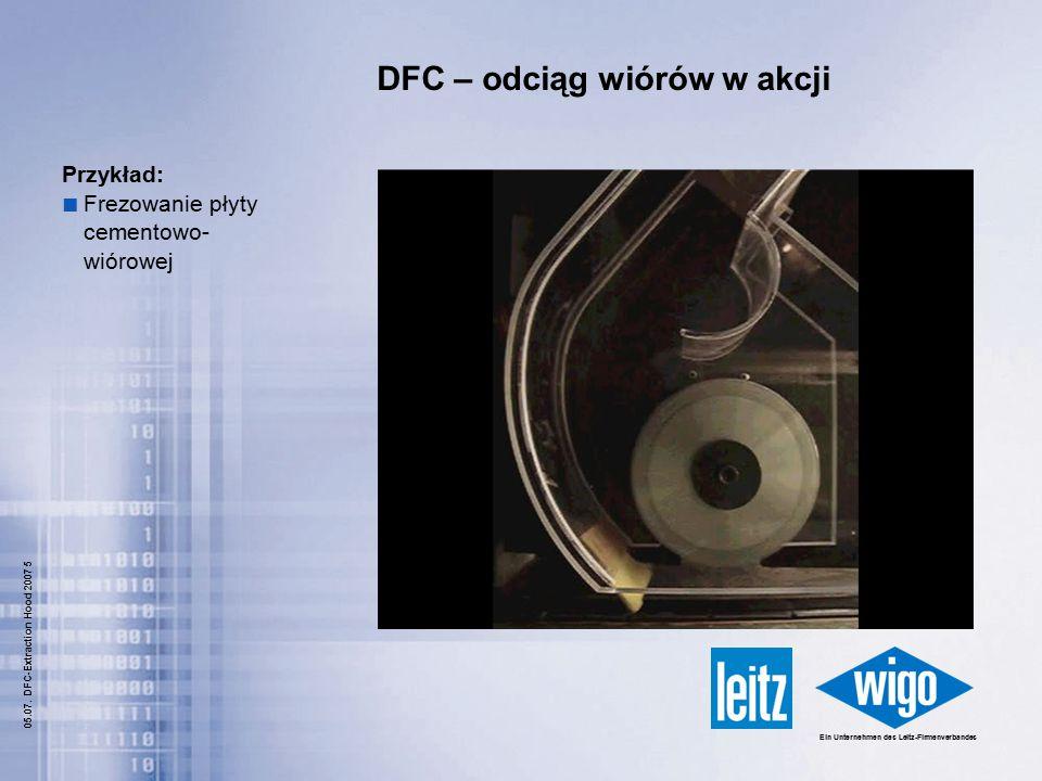DFC – odciąg wiórów w akcji
