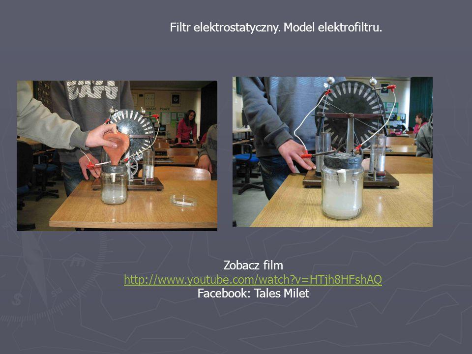 Filtr elektrostatyczny. Model elektrofiltru.
