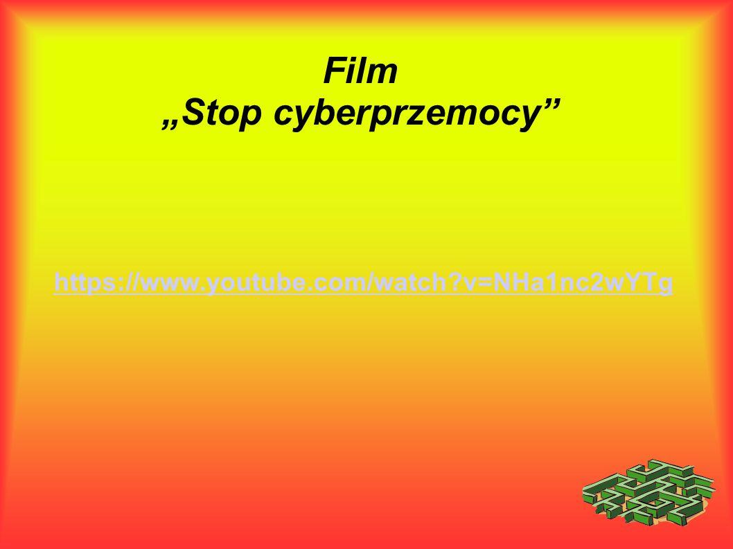 """Film """"Stop cyberprzemocy"""