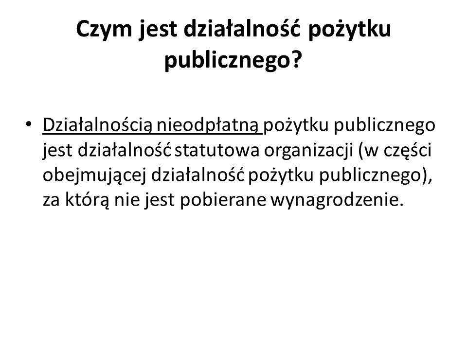 Czym jest działalność pożytku publicznego