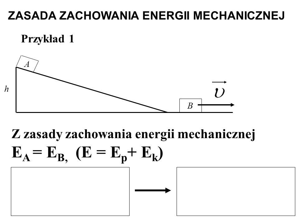 ZASADA ZACHOWANIA ENERGII MECHANICZNEJ
