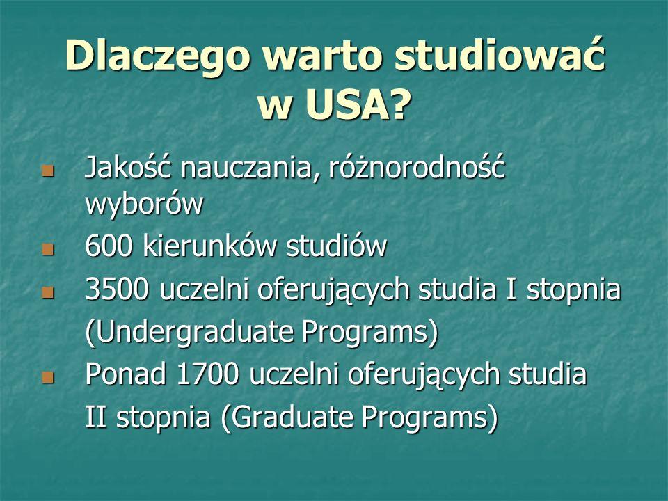 Dlaczego warto studiować w USA