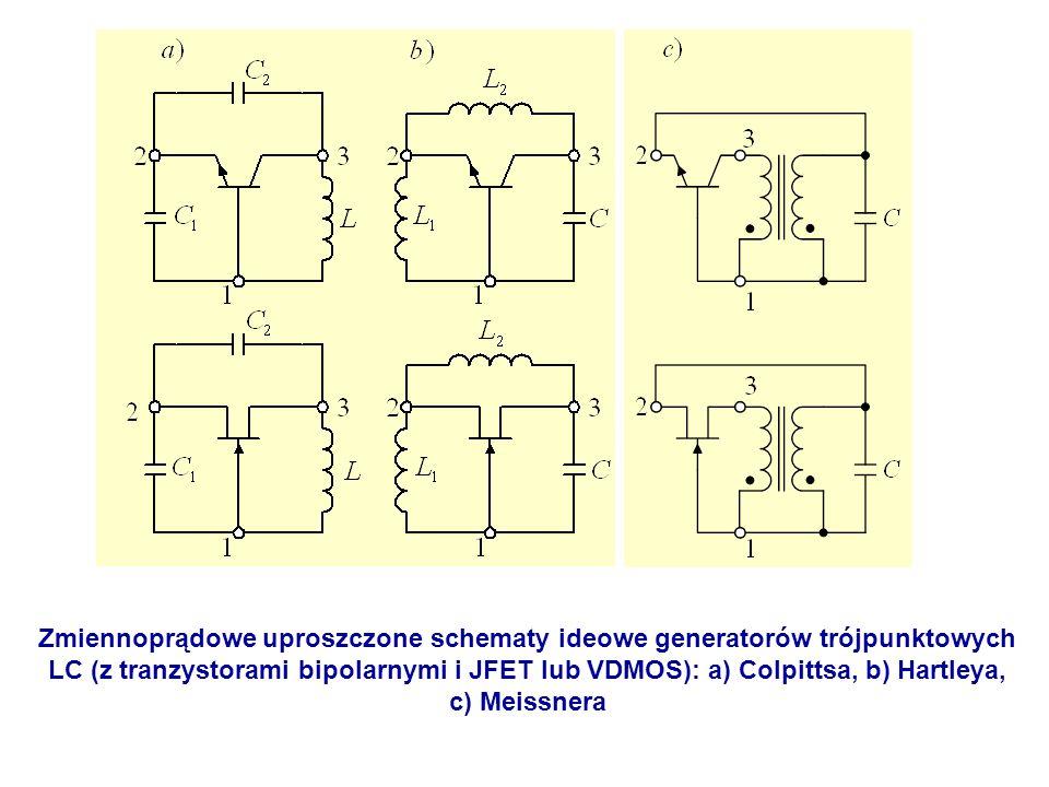 Zmiennoprądowe uproszczone schematy ideowe generatorów trójpunktowych
