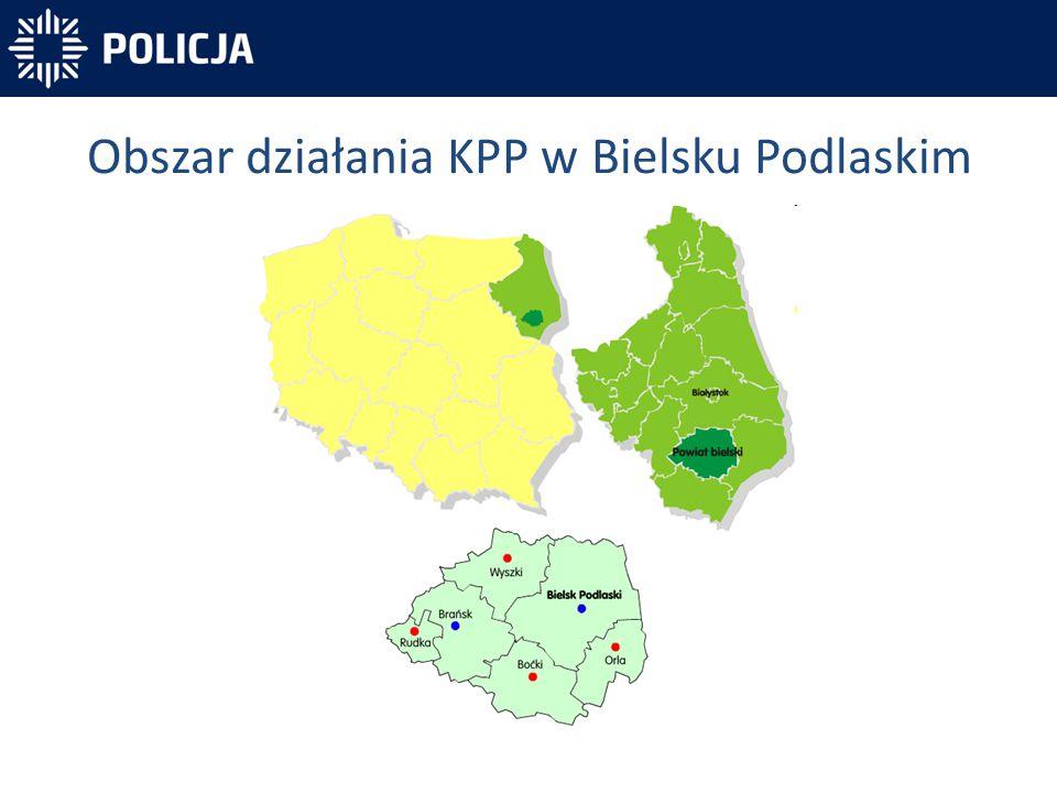 Obszar działania KPP w Bielsku Podlaskim