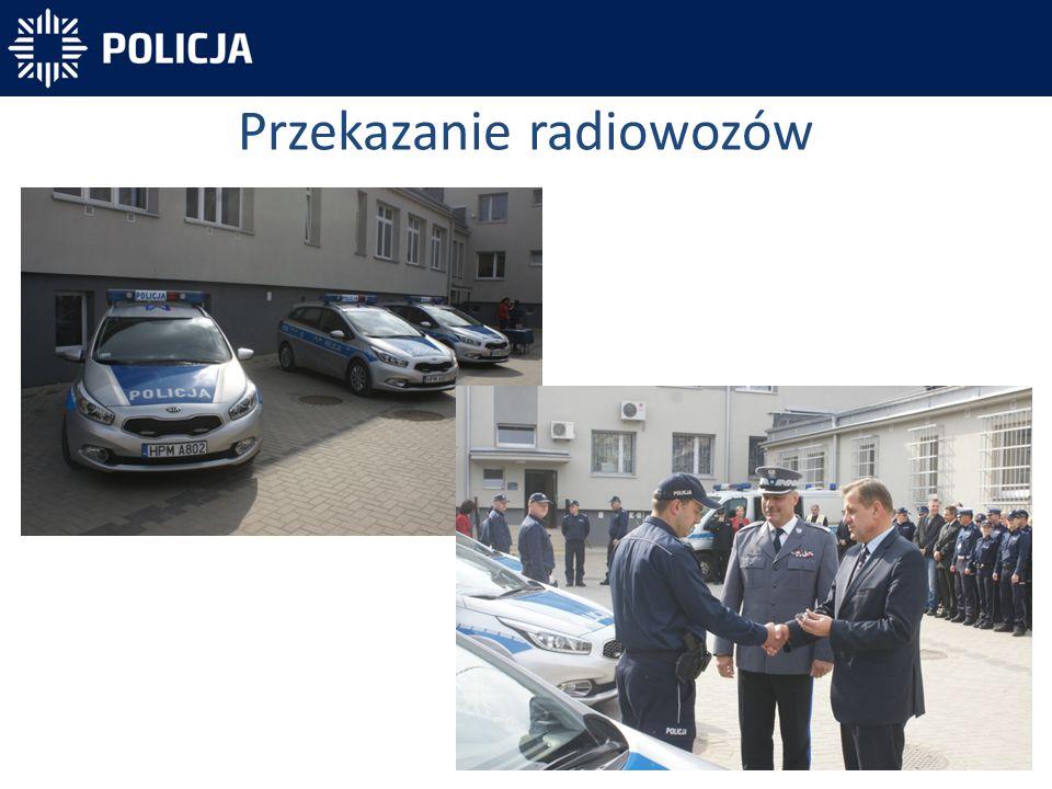 Przekazanie radiowozów
