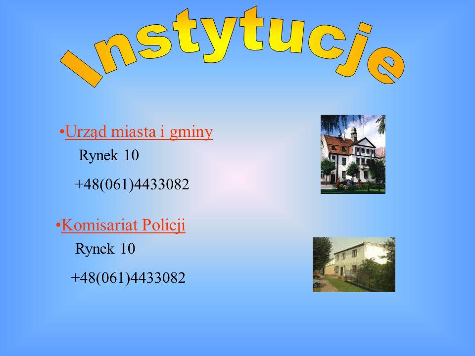 Instytucje +48(061)4433082 +48(061)4433082 Urząd miasta i gminy
