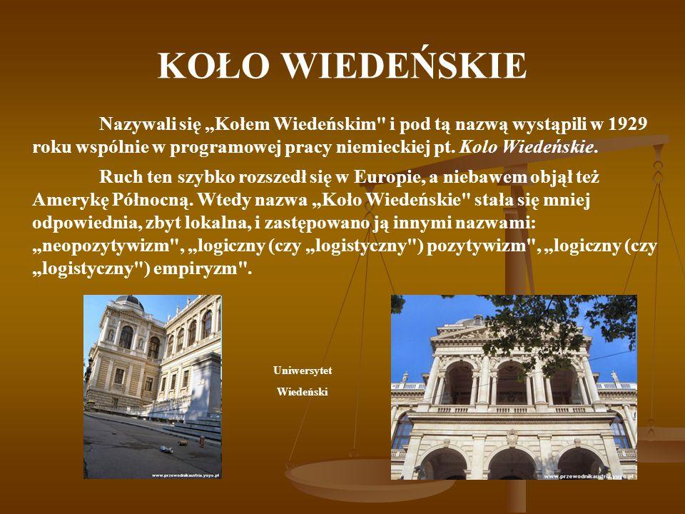 """KOŁO WIEDEŃSKIE Nazywali się """"Kołem Wiedeńskim i pod tą nazwą wystąpili w 1929 roku wspólnie w programowej pracy niemieckiej pt. Kolo Wiedeńskie."""