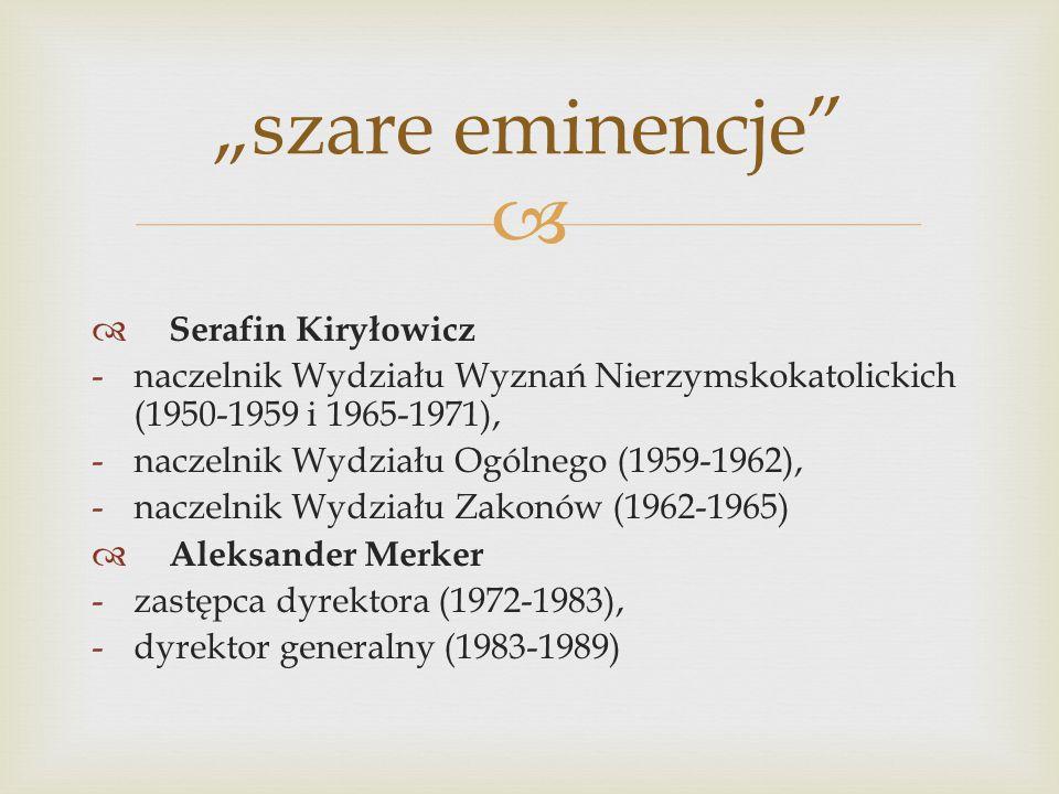 """""""szare eminencje Serafin Kiryłowicz"""