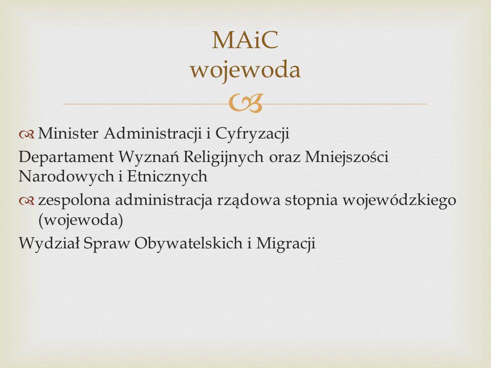 MAiC wojewoda Minister Administracji i Cyfryzacji