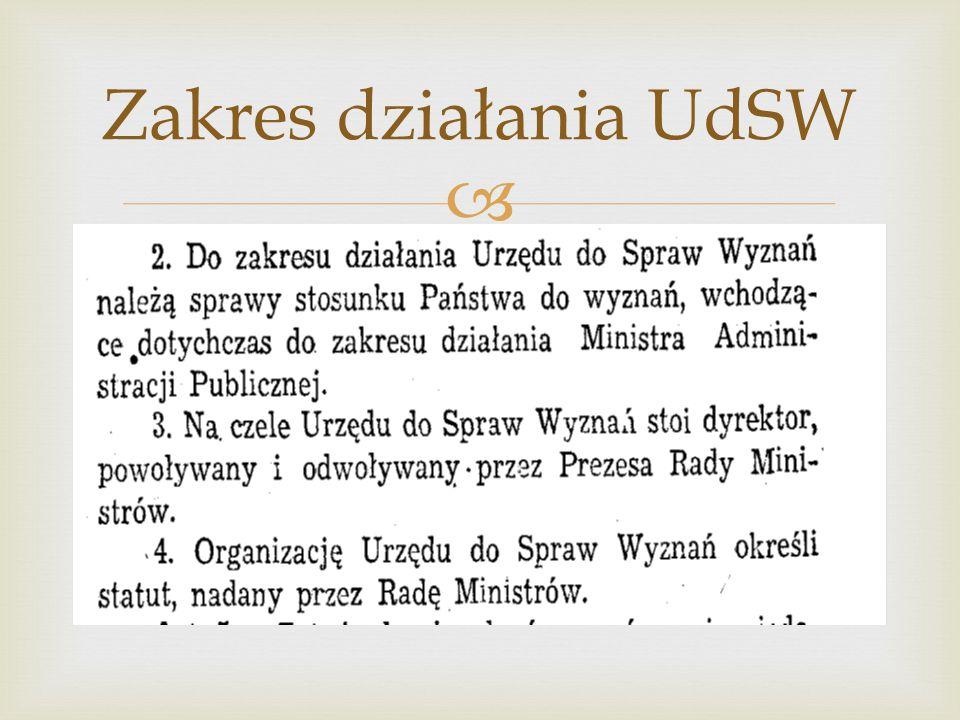 Zakres działania UdSW