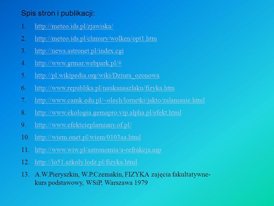 Spis stron i publikacji: