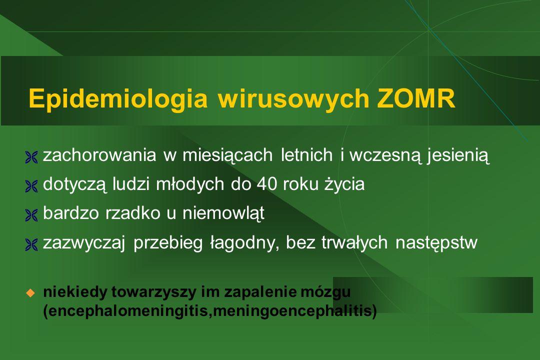 Epidemiologia wirusowych ZOMR