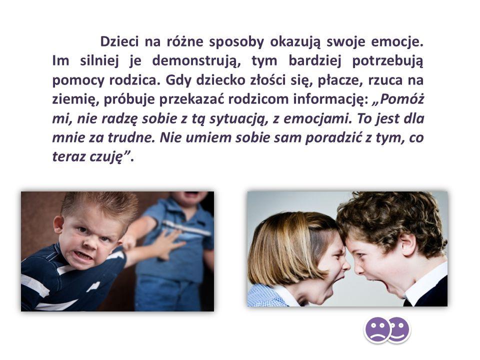 Dzieci na różne sposoby okazują swoje emocje