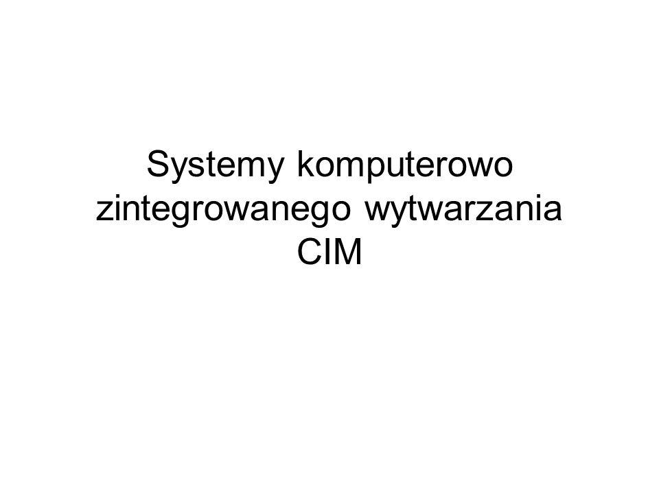 Systemy komputerowo zintegrowanego wytwarzania CIM