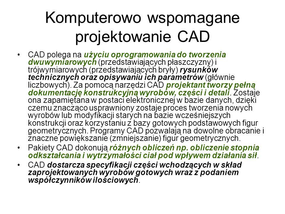 Komputerowo wspomagane projektowanie CAD