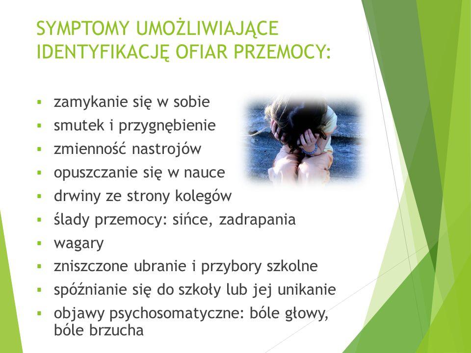 SYMPTOMY UMOŻLIWIAJĄCE IDENTYFIKACJĘ OFIAR PRZEMOCY: