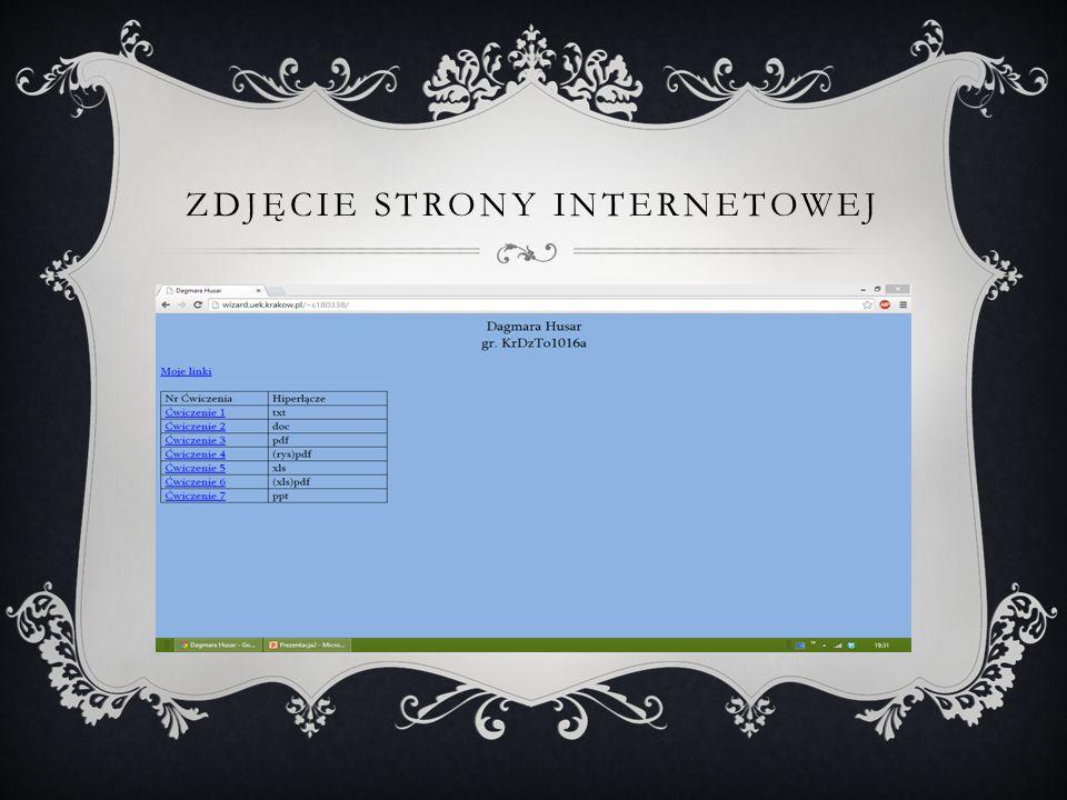 Zdjęcie strony internetowej