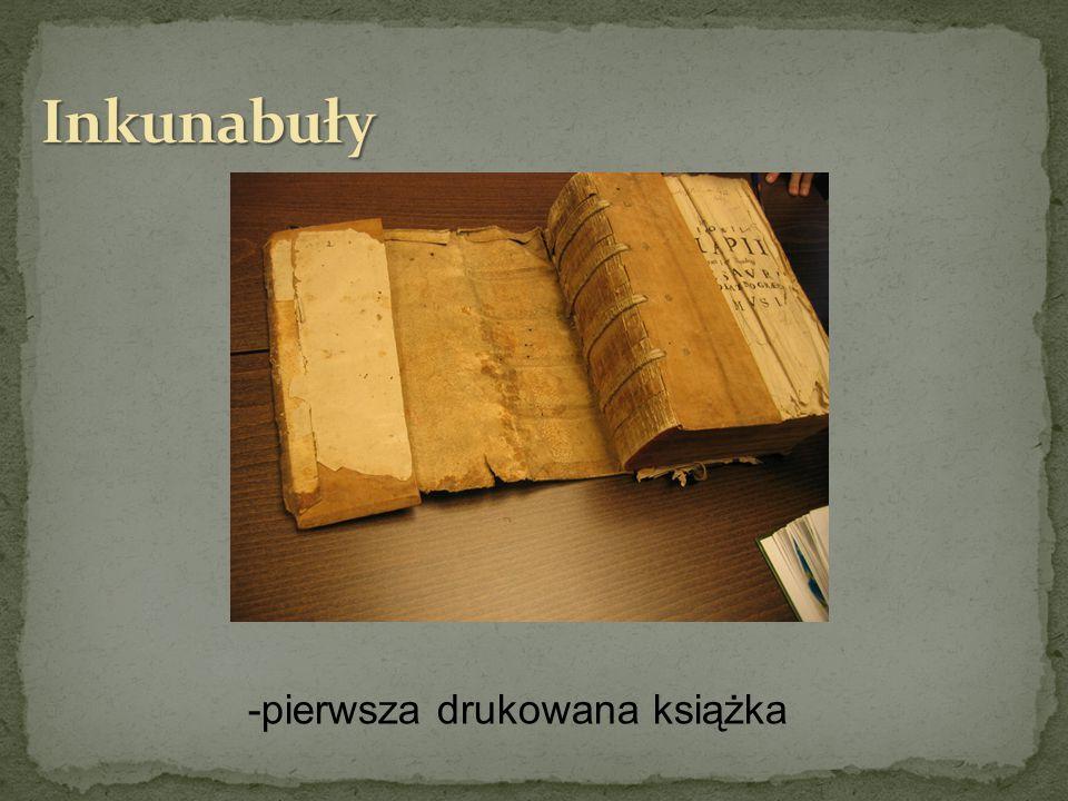 -pierwsza drukowana książka