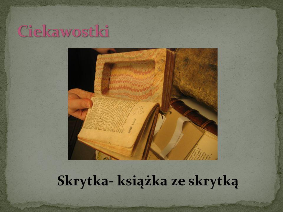 Skrytka- książka ze skrytką