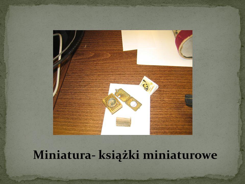 Miniatura- książki miniaturowe