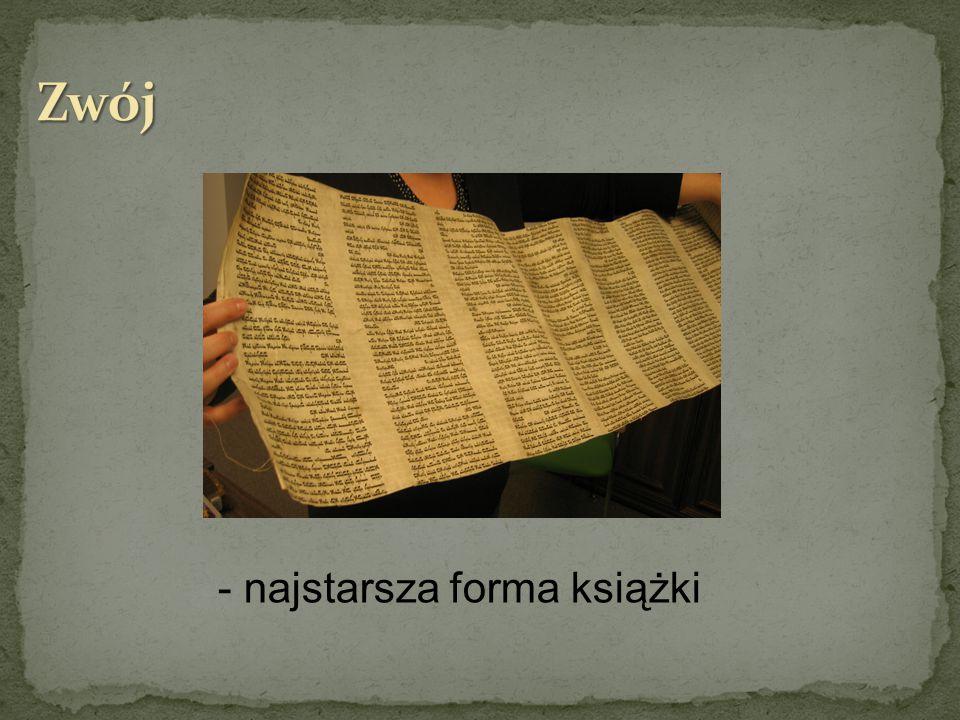 Zwój - najstarsza forma książki