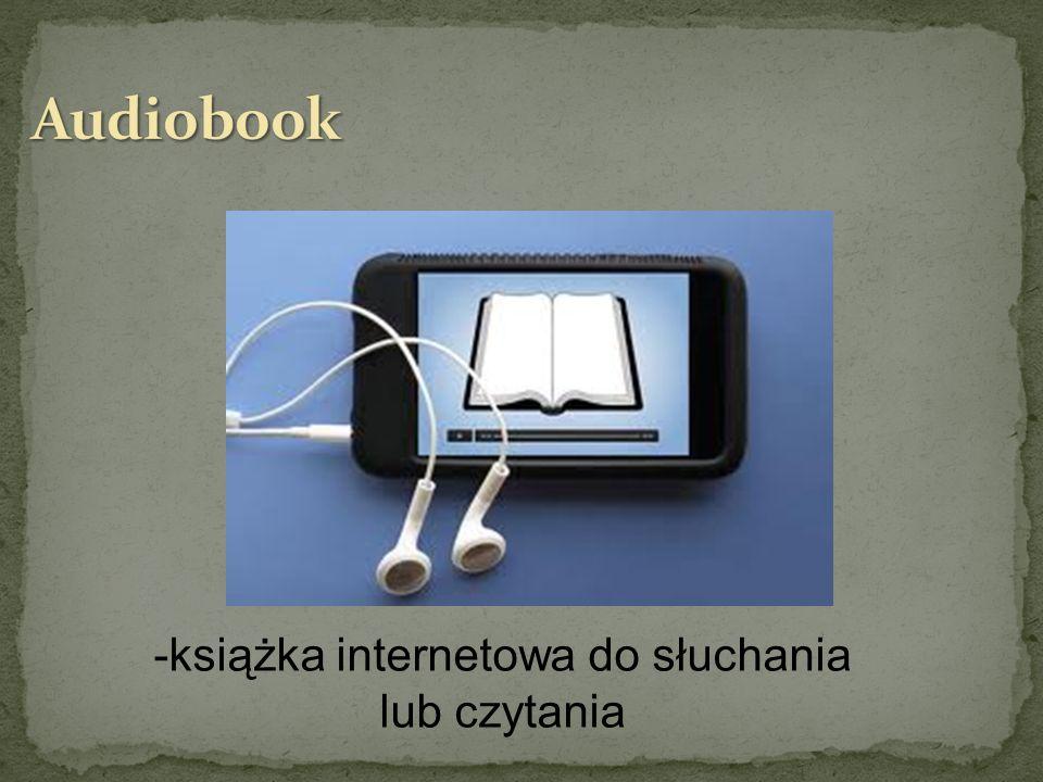 -książka internetowa do słuchania lub czytania