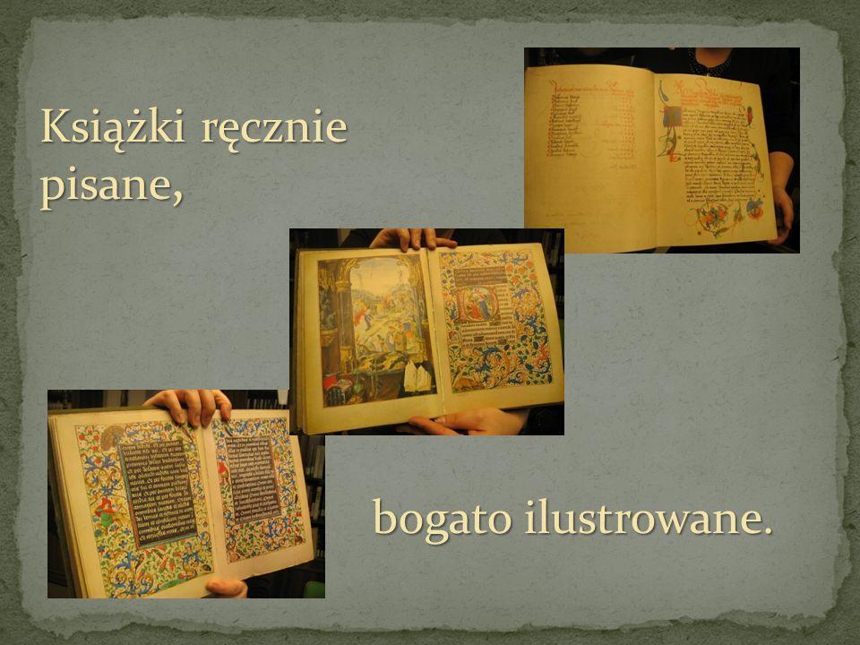 Książki ręcznie pisane,