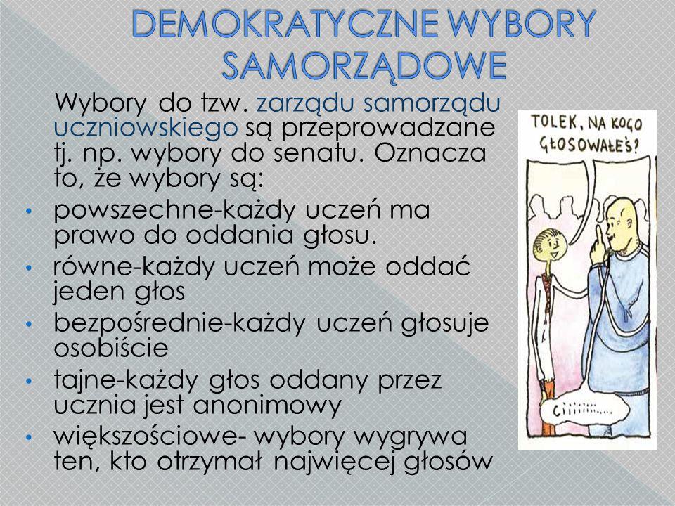 DEMOKRATYCZNE WYBORY SAMORZĄDOWE