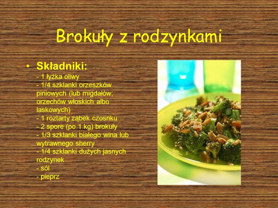 Brokuły z rodzynkami