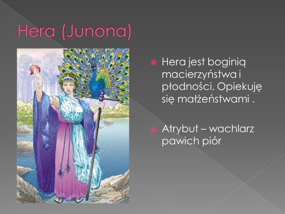 Hera (Junona) Hera jest boginią macierzyństwa i płodności.