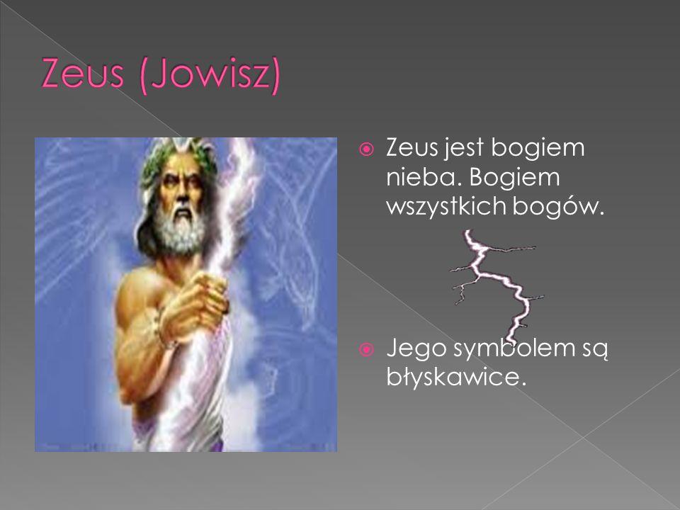 Zeus (Jowisz) Zeus jest bogiem nieba. Bogiem wszystkich bogów.