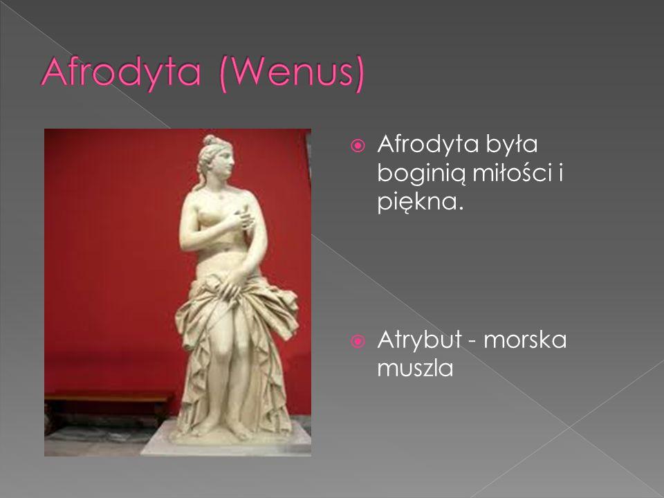 Afrodyta (Wenus) Afrodyta była boginią miłości i piękna.