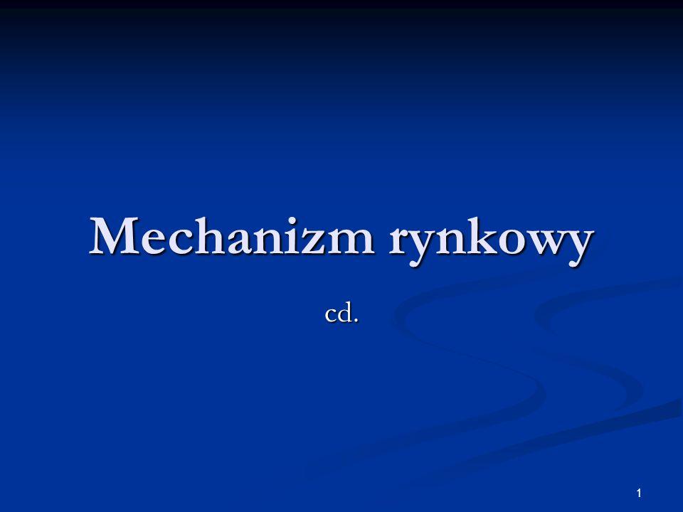 Mechanizm rynkowy cd.