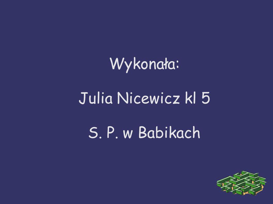 Wykonała: Julia Nicewicz kl 5 S. P. w Babikach