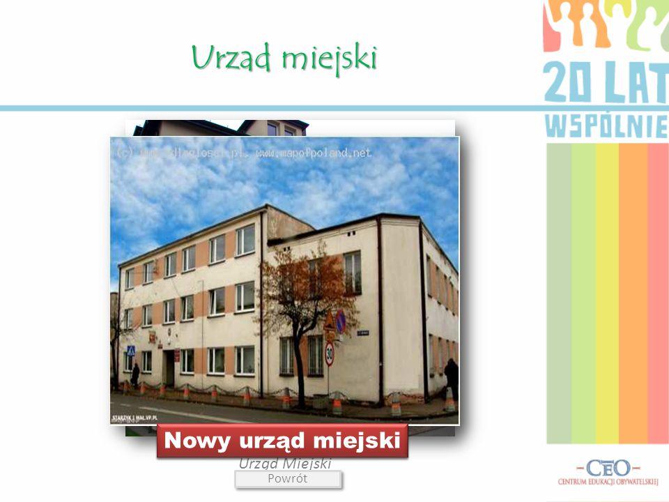Urzad miejski Nowy urząd miejski Stary urząd miejski Urząd Miejski