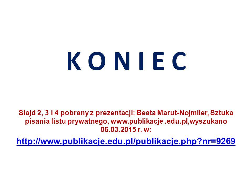 K O N I E C http://www.publikacje.edu.pl/publikacje.php nr=9269