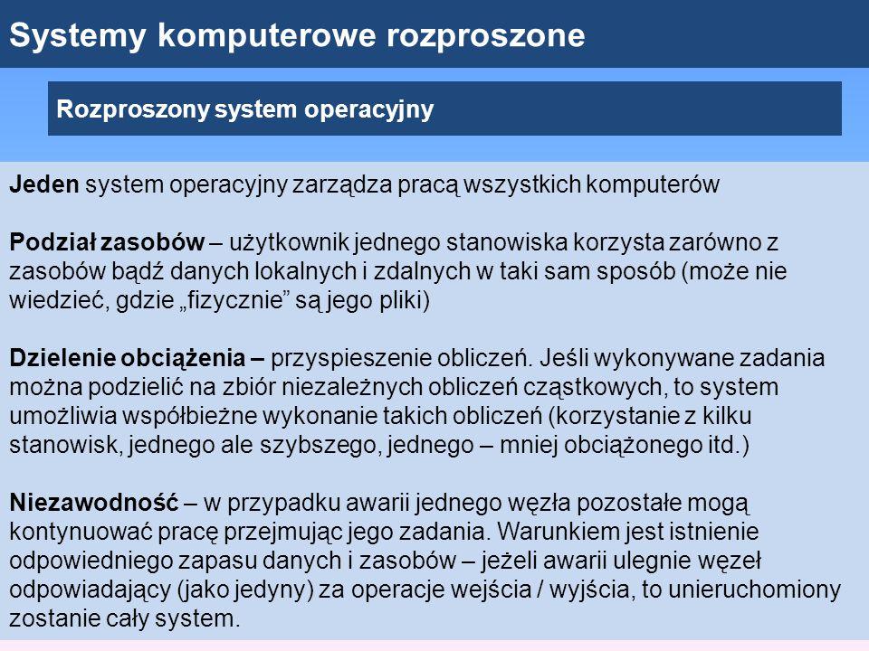 Systemy komputerowe rozproszone