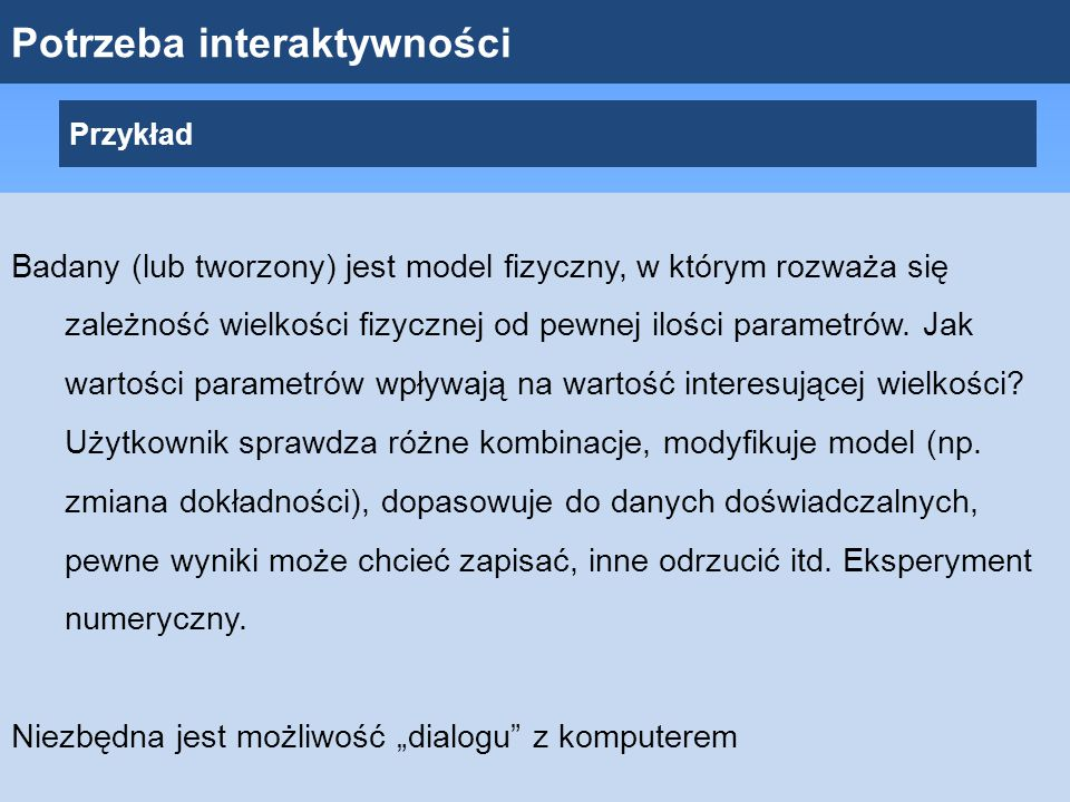 Potrzeba interaktywności