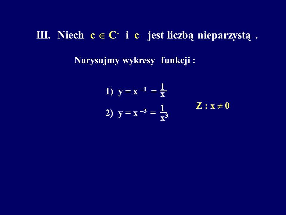 III. Niech c  C- i c jest liczbą nieparzystą .