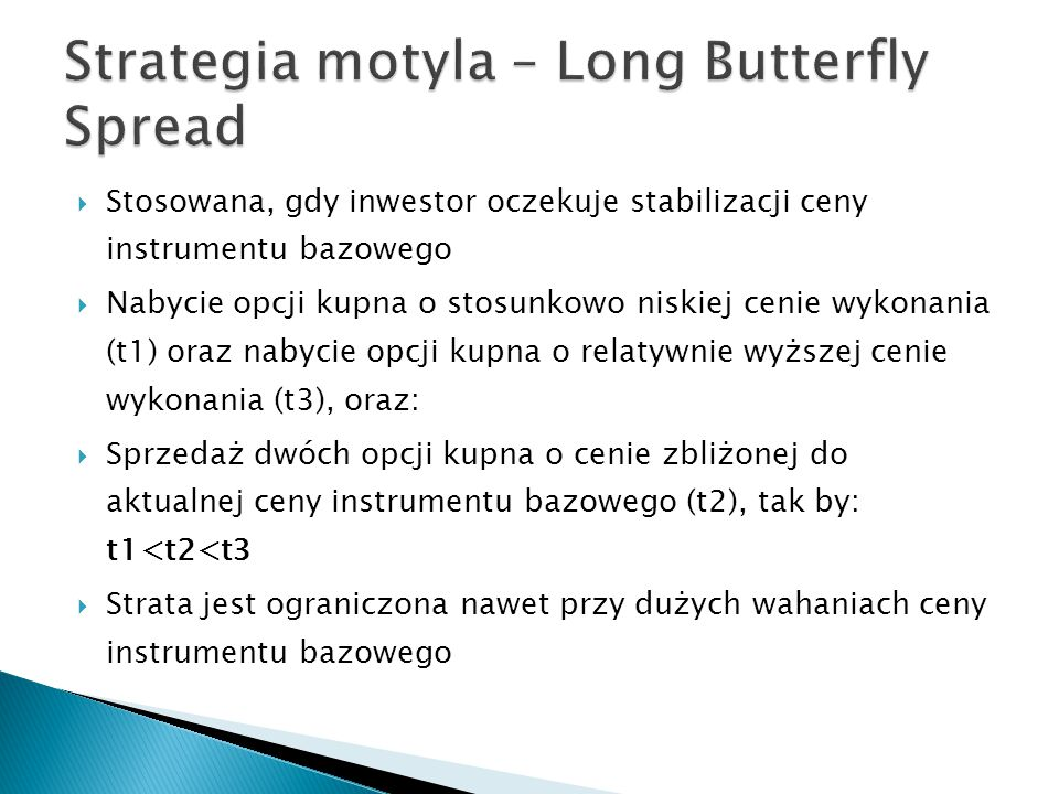 Strategia motyla – Long Butterfly Spread